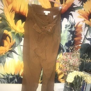 Tan High Waster Trouser Dress Pants